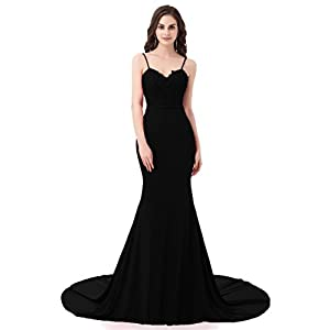 ASA Bridal Women's Long Prom Dress Mermaid Lace Evening Gown