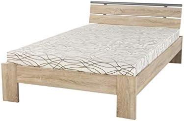 Avanti Trendstore Futon Cama con colchón y somier Enrollable, Superficie Aprox. 120 x 200 cm, Roble