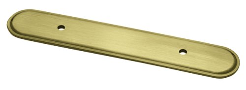 Brass Oval Backplate (Brainerd P30047V-AB-E2 3-Inch Oval Cabinet Hardware Handle Pull)