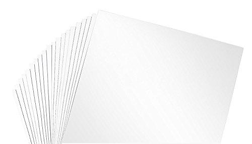 "12"" x 12"" Permanent Vinyl Oracle 651, 20 sheets Matte Whi..."