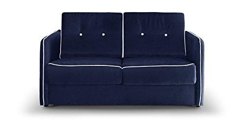Schlafcouch Blau moebella schlafsofa merina grau blau weiß mikrofaser stoff sofa