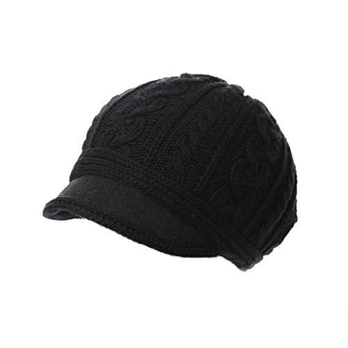 YXDDG Knitted Visor Beanie Womens Visor Beret Newsboy hat caps Suitable for Students, Dating,Long Oversized Beanie-D