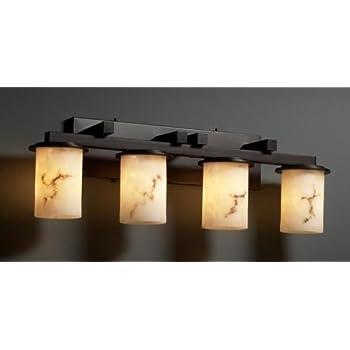 Justice design group fal 8774 10 mblk lumenaria collection dakota 4 light