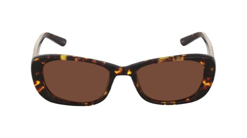 Flutter Women's Ayla Cognac Kyoto brown cat eye/butterfly 50MM Sun Readers 1.25 - Eyewear Kyoto