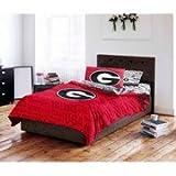 NCAA University of Georgia Twin Bedding Set (Georgia Bulldogs)
