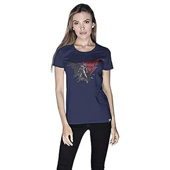 Creo Batman Power Super Hero T-Shirt For Women - Xl, Navy
