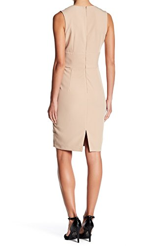 Wrap Beige Sheath Small S Dress Womens Admor Faux Alexia vwF0nICqq