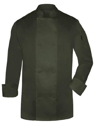 Newchef Fashion Olive Mens Chef Coat L - Chef Olive Coat