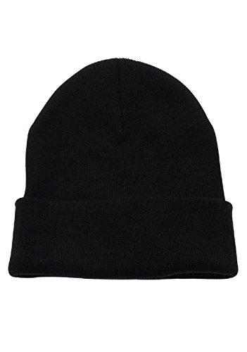 JMR Beanie Hat for Men and Women Winter Warm Hats Knit Thick Skull Cap (Black)