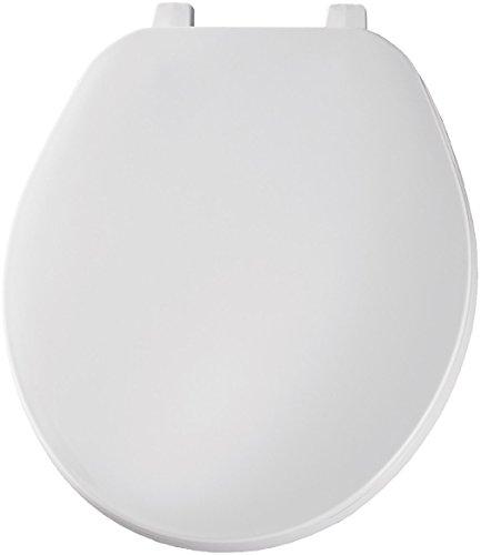 Bemis Economy Plastic Toilet Seat, Round, White, 70 000 (Toilet Plastic Seat)