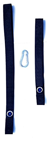 Battle Rope Anchor Strap Kit (pair). Commercial Quality. Heavy Duty Webbing. Extra long, with Steel snap hook.