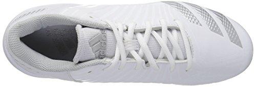 Zapatillas De Fútbol Adidas Hombres Freak X Carbon Mid, Blanco / Plata Metalizado / Gris Claro, 6 Medio Ee. Uu.