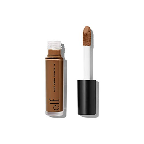 e.l.f. 16HR Camo Concealer, Full Coverage & Highly Pigmented, Matte Finish, Rich Chocolate, 0.203 Fl Oz (6mL)