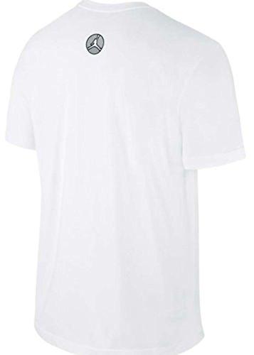 Nike Men's Air Jordan Retro 8 World Champ T-Shirt XX-Large White