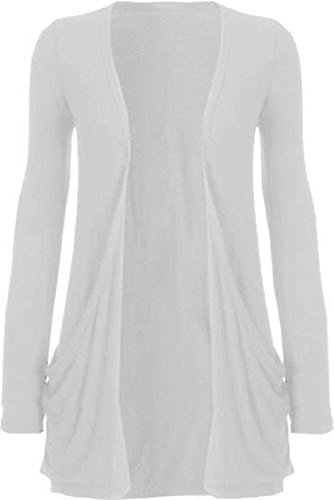 Cardigans femmes Manches longues ami Ladies Top Jumper SM-ML Blanc
