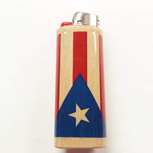 Puerto Rican Flag Lighter Case Flag of Puerto Rico Holder Sleeve Cover Fits Bic Lighters