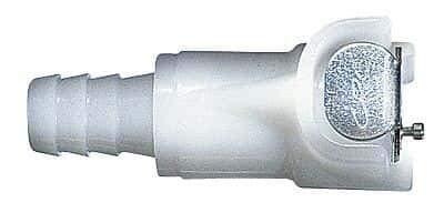 Acetal 1//4 ID 1//4 Flow Colder CPC PLC17004 Quick-Disconnect Hose Barb Body; Straight-Through