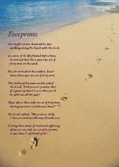 Impertinent image regarding poem footprints in the sand printable