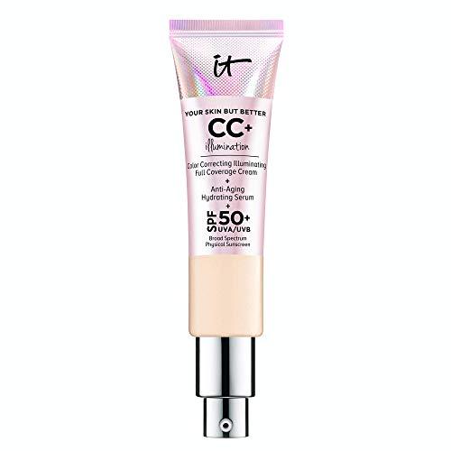 IT Cosmetics Your Skin But Better CC+ Cream Illumination, Light (W) – Color Correcting Cream, Full-Coverage Foundation…