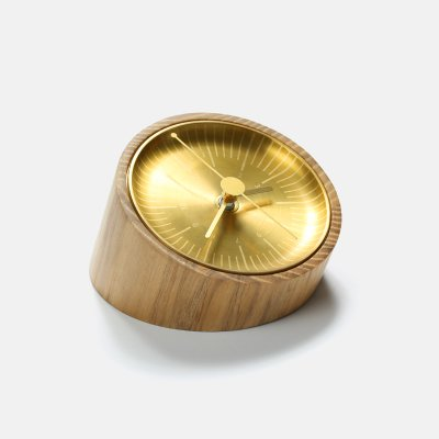 時計クリエイティブ木製レトロ古典的なデスクの装飾の飾り時計シンプルな真鍮の誕生日プレゼント (Color : White wax wood) B07D5QSMMSWhite wax wood