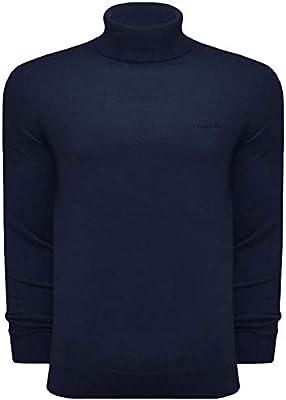 Lambretta Roll Neck - Jersey para hombre, cuello redondo, algodón, azul marino, L: Amazon.es: Ropa y accesorios