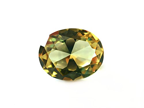 Diaspore #1405. Color Change. Oval 10x8 mm. 3 ct. SIAMITE Created Gemstone US@GEMS