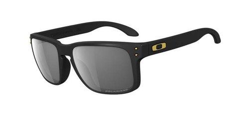 Oakley Holbrook 43 Polarized Sport Sunglasses,Matte Black Frame,Grey Polarized Lens,One size