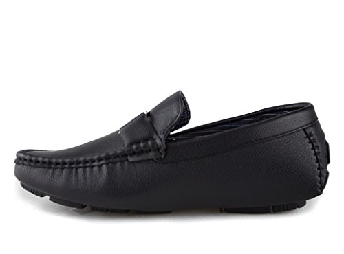 Mens Kirk-01 Slip On Fibbia Mocassino Driving Scarpe Mocassino Nero