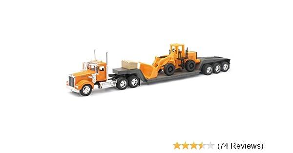 G-scale 1//32 Kenworth W900 Die Cast Tractor Crane /& Logging Trailer Detailed