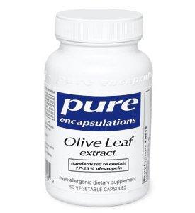 Чистые инкапсуляции - Оливковое экстракт листьев 500 мг 60 колпачка