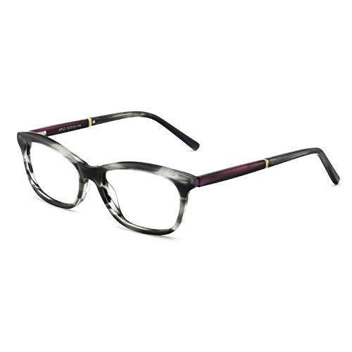 - OCCI CHIARI Womens Rectangle Stylish Eyewear Frame Non-Prescription Clear Eyeglasses (B-Black/Grey/Tortoise(new))