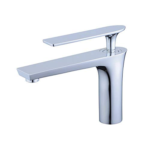 Hiendure Single Control Hole Centerset Bathroom Vanity Sink Faucet With Long Reach Rectangle Spout, Chrome