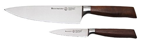 Messermeister Royale Elité 2 Piece 8-Inch Chef's Knife & 3.5-Inch Paring Knife Set, American Walnut Burl Wood Handle by Messermeister