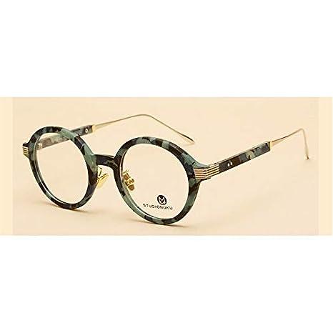 30306ffb6d9a Image Unavailable. Image not available for. Color  KathShop Eyeglasses  Frames Unisex Optical Prescription Retro Round Glasses Frame Clear Lens ...
