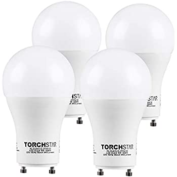 TORCHSTAR A19 Shape LED Bulb, GU24 Base, 9W (60W Equivalent), Energy Star UL-Listed, Dimmable, 840 Lumens, 3000K Warm White, 310 Degree, 3 Years Warranty, ...