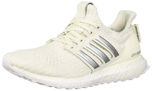 adidas x Game of Thrones Women's Ultraboost Running Shoes, off white/silver metallic/black, 8 M US