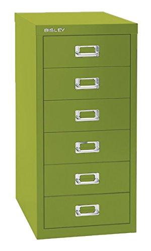 Superbe Bisley 6 Drawer Steel Multidrawer Storage Cabinet, Green (MD6 GR)