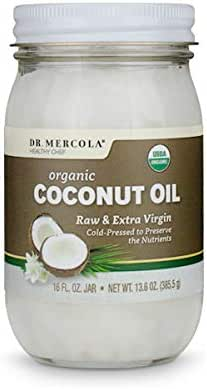 Dr. Mercola, Organic Extra Virgin Coconut Oil, 16 Fl oz, Cold-Pressed, non GMO, Gluten Free, USDA Organic