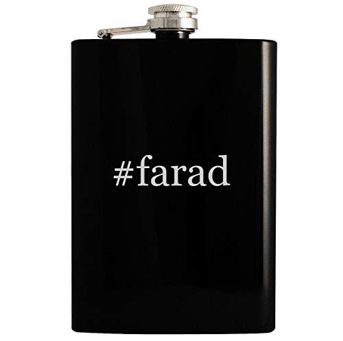 #farad - 8oz Hashtag Hip Drinking Alcohol Flask, Black ()
