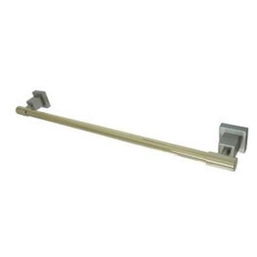 Claremont 24 Towel Bar - Claremont Towel Bar Finish: Satin Nickel /Polished Brass, Size: 24