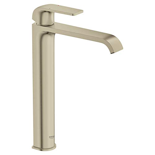 - Grohe 23869EN0 Defined 1.2 GPM Vessel Single Hole Bathroom Faucet with Pop-Up Drain Assembly, SilkMove and EcoJoy Technologies
