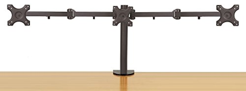 EZM Triple LCD/LED/PLASMA/Flat Panel Monitor Mount Stand Desktop Clamp Holds up to 24