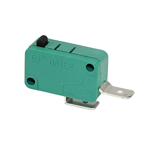 DaierTek 2Pcs Normally Open Door 2Pin Micro Switch 16A 250VAC/20A 125VAC SPST for Microwave