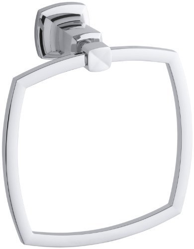KOHLER K-16254-CP Margaux Towel Ring, Polished Chrome Color: Polished Chrome, Model: 16254-CP, Hardware - Beach The Gardens Mall Gardens Palm