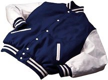 UPC 765689053463, Varsity Wool with Leather Sleeves Jacket From Holloway Sportswear (2X-Large)