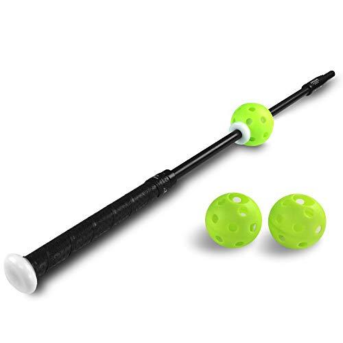 "ProGlider -9 Youth Baseball Swing Trainer with 3 Balls - 30"" 21oz. Revolutionary baseball training device that teaches fundamental swing mechanics"