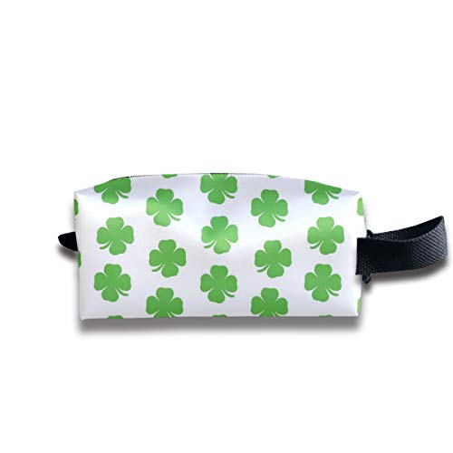 Small Toiletry Bag Shamrock,Pencil Case,Travel Essentials Bag,Dopp Kit Bag For Men And Women With Handle