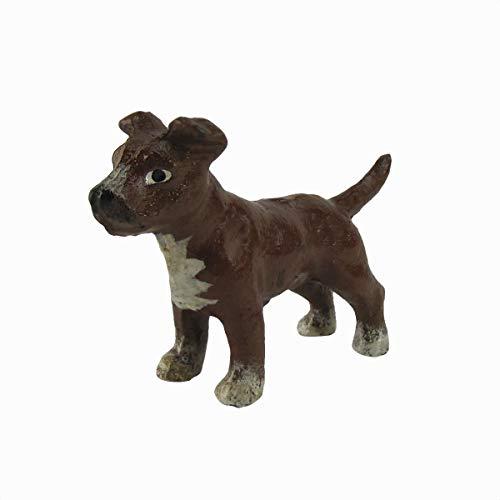 TG,LLC Miniature Cast Iron Pitbull Paperweight Collectible Dog Decor