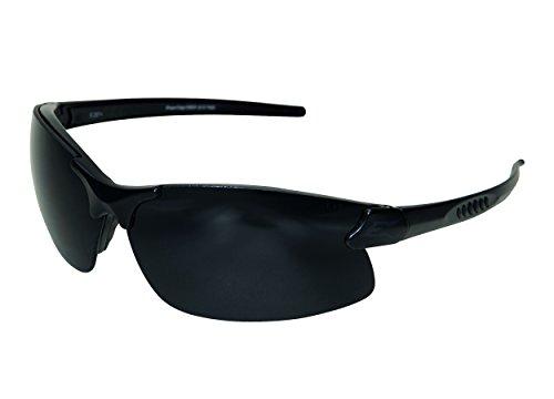 Edgeware adultes Tactical Safety Eyewear, Sharp Edge, noir mat, revêtement anti-rayures, anti-buée Vapor Shield Verres de lunettes de protection, Multicolore, Taille unique