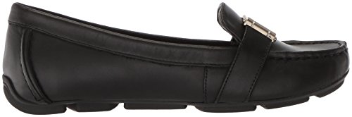 Petra Leather AK Klein Women's Sport Black Flat Leather Anne Loafer p4Oaqn